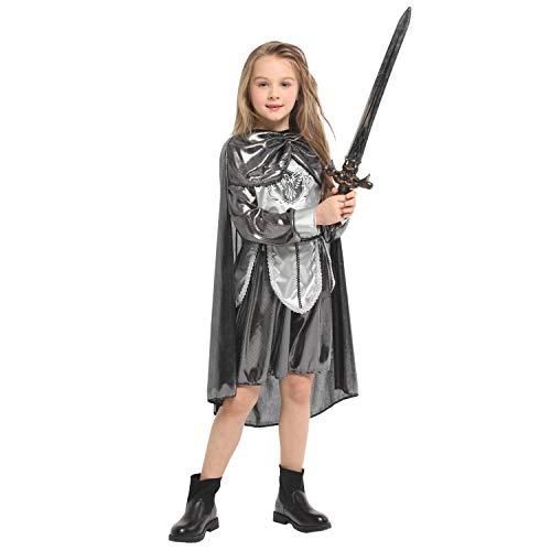Eine Krieger Prinzessin Kostüm - Belingeya-cl Halloween Kostüm Cosplay Kinder Rüstung Krieger Prinzessin Kleid Kinder Halloween Kostüm Mädchen Jungen Halloween Cosplay Kleid Kostüm 4-12 Jahre Für Mädchen (Größe : L)