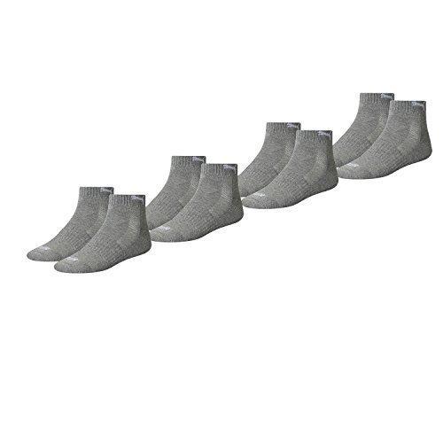 PUMA Unisex Match Quarters Socken Sportsocken MIT FROTTEESOHLE 8er Pack (middle grau melange (758), 39-42)