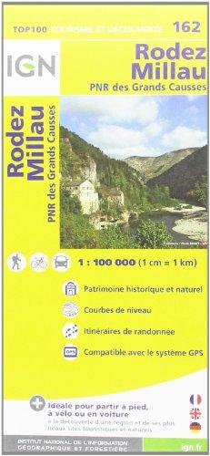 TOP100162 RODEZ/MILLAU  1/100.000