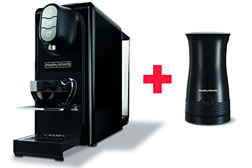 Morphy-Richards-Accents-Black-Coffee-Machine-Milk-Frother-Nespresso-Compatible