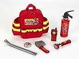 Theo Klein 8900 8900-Feuerwehr Rucksack mit Zubehör, Spielzeug, Rot