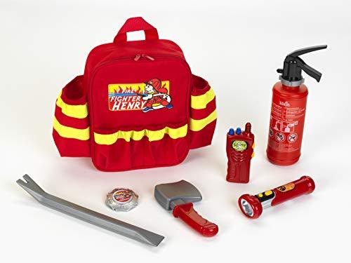-Feuerwehr Rucksack mit Zubehör, Spielzeug, Rot ()