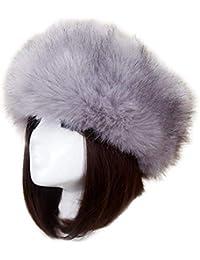 b836f89708c8e CJC Sombreros Mongol Invierno Mujer Ruso Cosaco Pompón Unisexo Trampero  Gorra (Color   Blanco