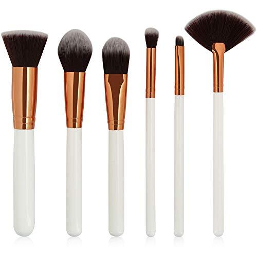 Pinceaux De Maquillage CosméTique Brush Kit Kabuki Professionnel Cheveux Naturels Des ChèVres/Fibre SynthéTique Makeup Set, Beauté Brosse Fondation Avec Sac Hiroo (B)
