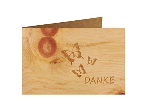 keskarte- 100% handmade in Österreich - Postkarte Glückwunschkarte Geschenkkarte Grußkarte Klappkarte Karte Einladung, Motiv:DANKE ()