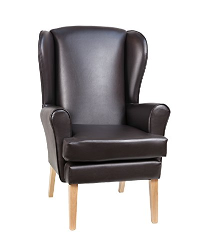 """Morecombe Orthopedic High Seat Chair in Manhattan Brown 21"""" x 21"""""""