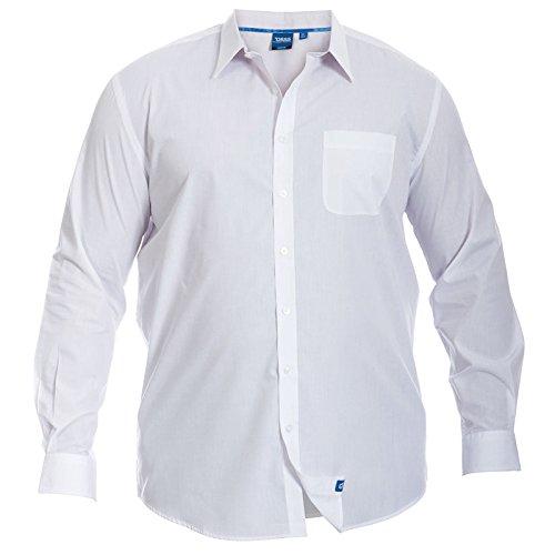 DUKE D555 -  Camicia classiche  - Camicia - Basic - Classico  - Uomo White