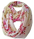 Tapp Collections Multicolor Floral Print Infinity Scarf - Cream