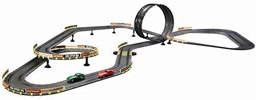 """Preisvergleich Produktbild Auto-Rennbahn """"Jerry Cotton"""" von Cartronic im Maßstab 1:43, Komplett-Set – Bahnlänge 9,70 m, mit 2 Modellautos Jaguar E-Type, kompatibel mit Carrera Go!"""