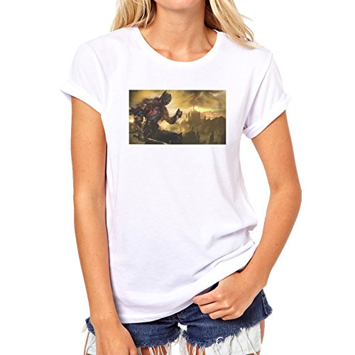 Dark Souls 3 Castle Fire Man Damen T-Shirt Weiß
