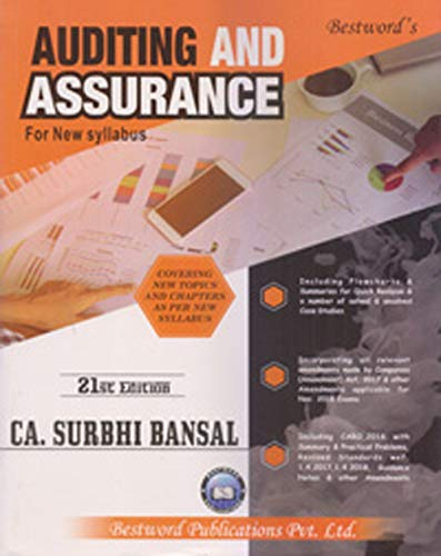 Auditing And Assurance For New Syllabus 21ED May 2018 Applicable for Nov. 2018 Exams