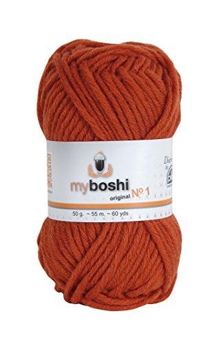 MyBoshi-Gomitolo per lavoro a maglia e uncinetto, misto lana, mattone