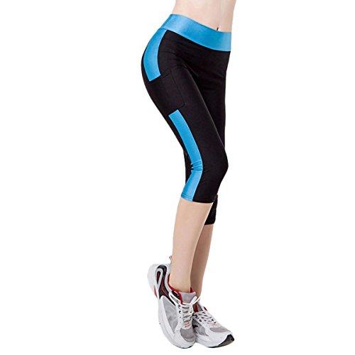 Fletion Frauen Mädchen Enge Stretch Sport Jogging Yoga geerntete Hose Sporthose Kompression Gamaschen Hosen