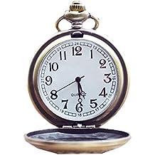 1b14122dc304 Reloj de bolsillo con 15 pulgadas de cadena larga para hombres Mechnical  Reloj de cuarzo de