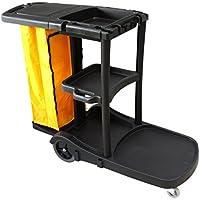 Carro de limpieza multifunción STYLE Clim Profesional®. Carro multiusos para su uso en hoteles, hostales, colectividades, etc. Comodidad en las tareas de limpieza gracias a sus ruedas, bolsa de lona con cremallera, tapa y 3 bandejas para transportar productos de limpieza