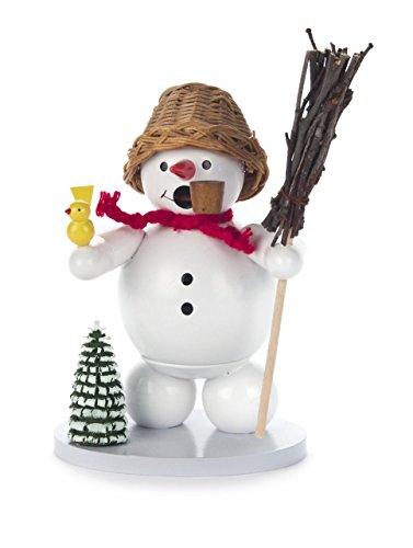 Bonhomme de neige avec poêle 5 cm personnage décoration de table les Monts Métallifères Neuf