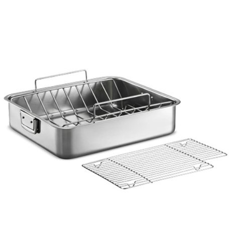 Tramontina Gourmet Premium 18/10 Staineless Steel 16.5-Inch Roasting Pan with Basting Grill and V-Rack by Tramontina Gourmet
