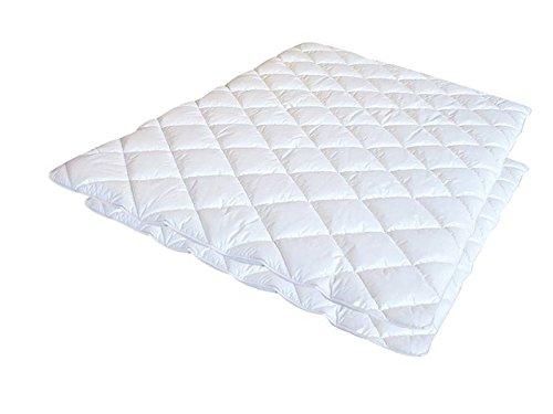 Softsan 4 Jahreszeiten Bettdecke Bio Hygienic 135x200 cm allergikergeeignet, Microfaser Decke zweiteilig für Sommer Winter und als Übergangsdecke, verschiedene Größen
