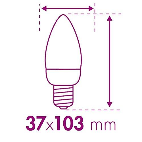 Xq-Lite 10.088.13 Bombilla LED Vela, E14, Blanco