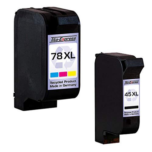 PlatinumSerie Set 2 Patronen kompatibel für HP 45 XL & HP 78 XL | Black & Color je 42ml XXL-Inhalt - Die Hp Factory