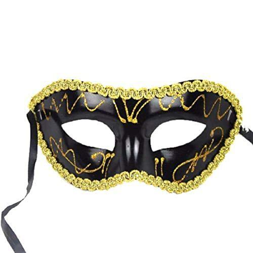 Gras Mardi Frauen Kostüm - VAWAA 1pc Männer Frauen Kostüm Prom Maske Venezianischen Mardi Gras Party Tanz Maskerade Ball Halloween Maske Party Liefert