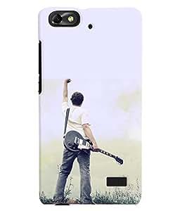 Fuson 3D Printed Guitar Designer Back Case Cover for Huawei Honor 4C - D830
