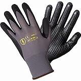 Arbeitshandschuhe Handschuhe 12 Paar Nylon-Strickhandschuhe mit Nitril/PU Noppen Größe 9 Bauhandschuhe Alternative zu Maxiflex