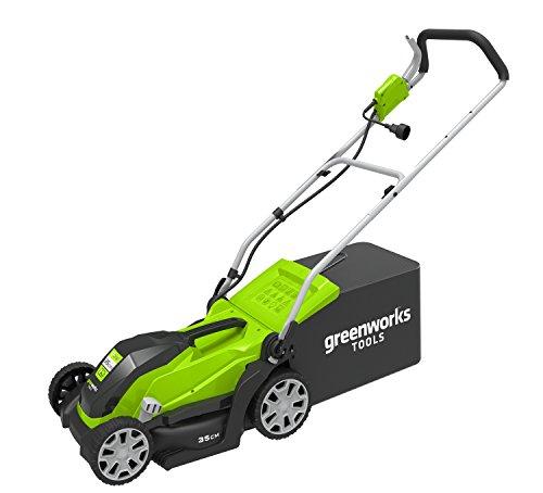 Greenworks 2505107 GLM1035 Elektrischer Rasenmäher 1000W-2505107, 1000 W, 230 V, Green, 35cm