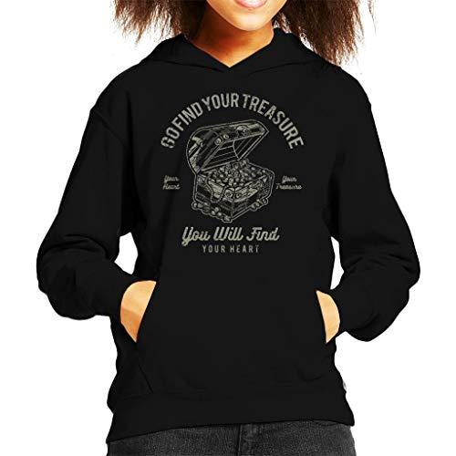 Go Find Your Treasure Kid's Hooded Sweatshirt