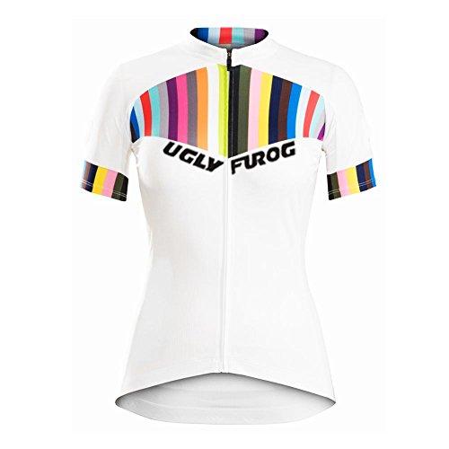 Uglyfrog Damen Radtrikot Kurzarm Trikot Fahrradbekleidung Frau schließen Hülsen Zyklus Jersey Fahrradtrikot ZDWGH05