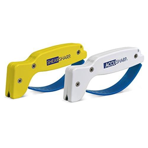 419hhuOHt%2BL. SS500  - AccuSharp Smart Knife Sharpener Kitchen Knife Sharpening & ShearSharp Scissor Sharpener - Yellow/White & Blue