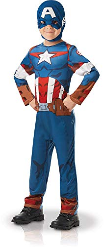 Rubie 's 640832 M Offizielles Marvel Avengers Captain America Classic Kind costume-medium Alter 5-6, Höhe 116 cm, Jungen, one size (Captain America Superheld Kostüm)