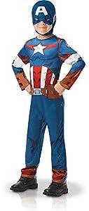 Rubies 640832S - Disfraz infantil oficial de Marvel Avengers Capitán América, talla única