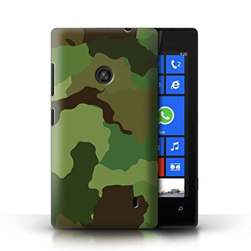 Stuff4® Hülle/Case für Nokia Lumia 520 / US Waldkampf Muster/Militär Camouflage Tarnung Kollektion