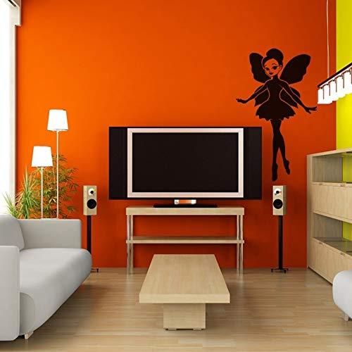 (wandaufkleber sterne grau wandaufkleber 3d groß Mädchen Wandtattoo Pixy Angel Wall Decal für Mädchen Zimmer)