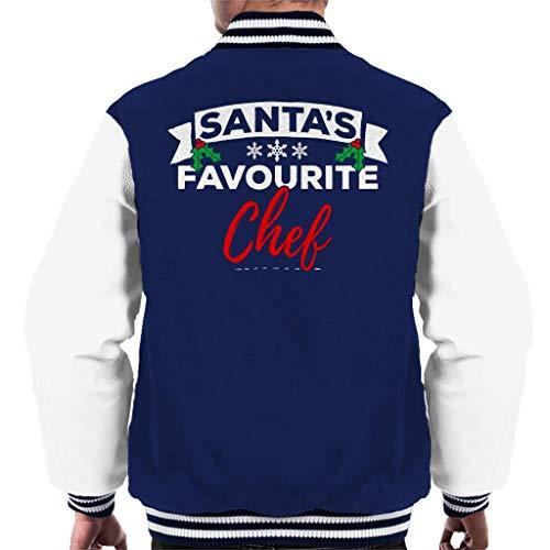 Coto7 Santas Favourite Chef Christmas Men's Varsity Jacket