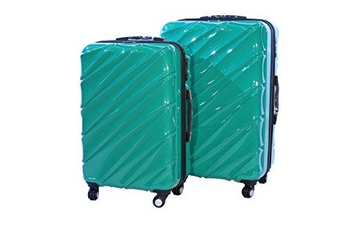 Shaik 7203085 Trolley Koffer, 2er Set (L, XL), grün