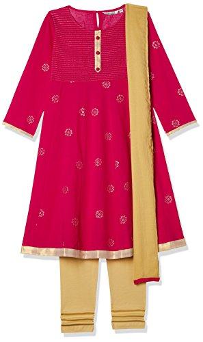 Karigari Girls' Straight Regular Fit Salwar Suit (274389324_Assorted_08Y)