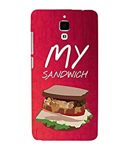 My Sandwich 3D Hard Polycarbonate Designer Back Case Cover for Xiaomi Redmi Mi 4 :: Redmi Mi 4