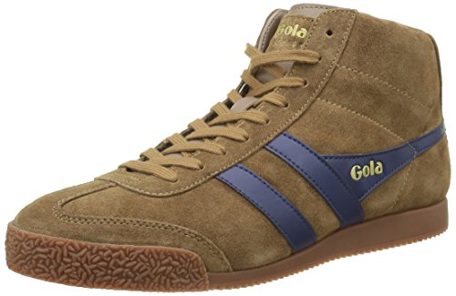 Gola Harrier High Suede, Baskets Basses Homme Marron - Braun (Tobacco/Navy)