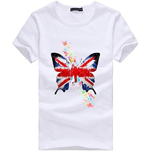 ZycShang - Camisa casual - para hombre blanco blanco XXXX-Large