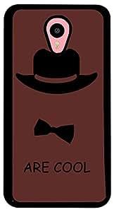 PrintVisa Boy Hat Bow Case Cover for Meizu M1 Note (2D-MM1N-D7662, Multicolour)
