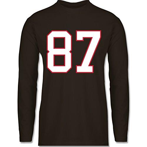Shirtracer American Football - Football New England 87 - Herren Langarmshirt  Braun