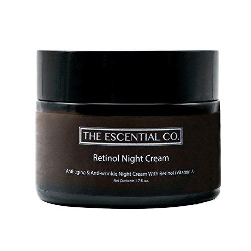 Retinol Nachtcreme – Anti-Aging und Anti-Falten Gesichtspflege Feuchtigkeitscreme mit...