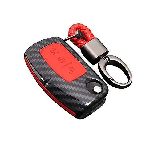 Happyit ABS Fibra Carbono Shell + Silicona Llave Coche