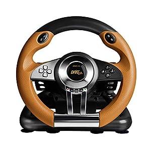 Speedlink Drift O.Z. Lenkrad für PC (Schaltknauf, Gas- und Bremspedale, XInput und DirectInput, Vibrationsfunktion…