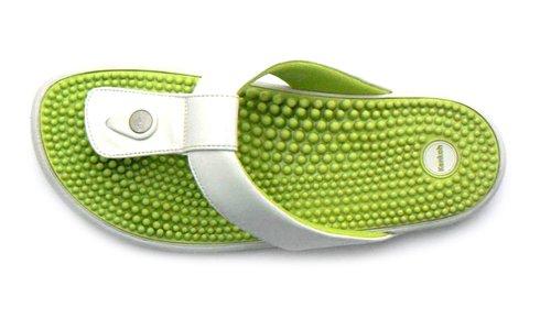 Kenkoh O Reflexologia Japonês Mulheres Verdes Marfim Para Flip Flop rrdxwBTq