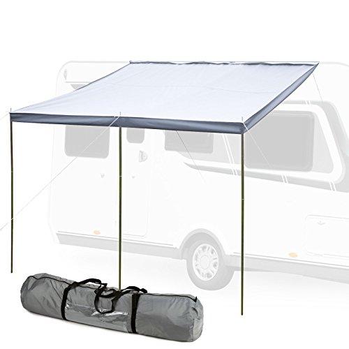 """Hypercamp Sonnensegel Sunny 300\"""" für Kederleisten 7 mm 300 x 240 cm inkl Stangen, Heringe, Leinen für Wohnwagen, Wohnmobile und Bus"""