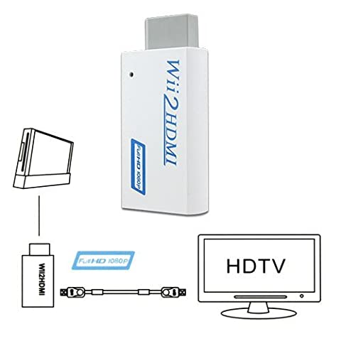 WII TO HDMI WII2HDMI 720P OR 1080P VIDEO CONVERTER ADAPTOR HD HDTV + 3.5MM AUDIO
