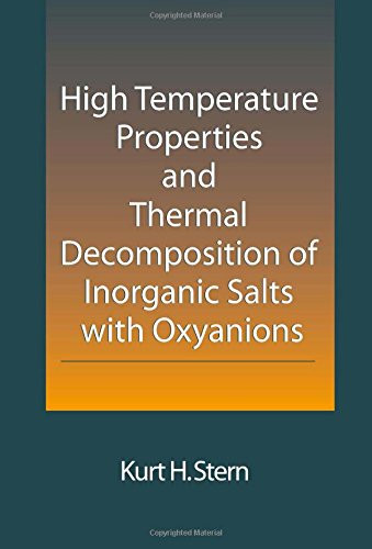 high-temperature-properties-and-thermal-decomposition-of-inorganic-salts-with-oxyanions
